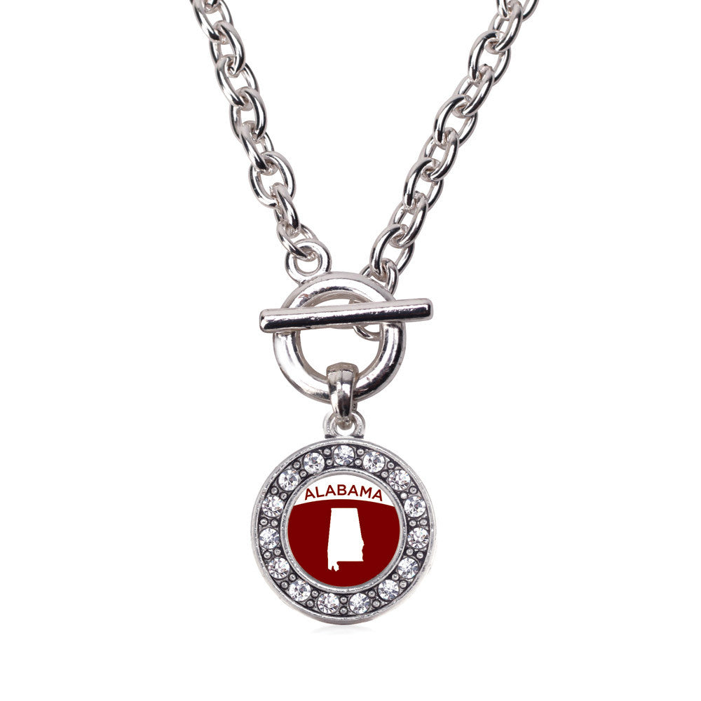 Alabama Outline Circle Charm