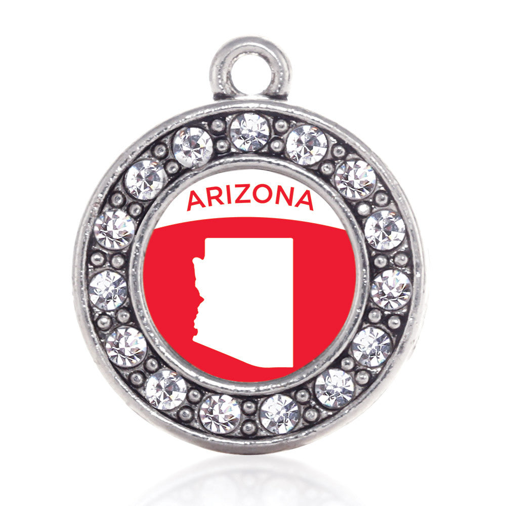 Arizona Outline Circle Charm