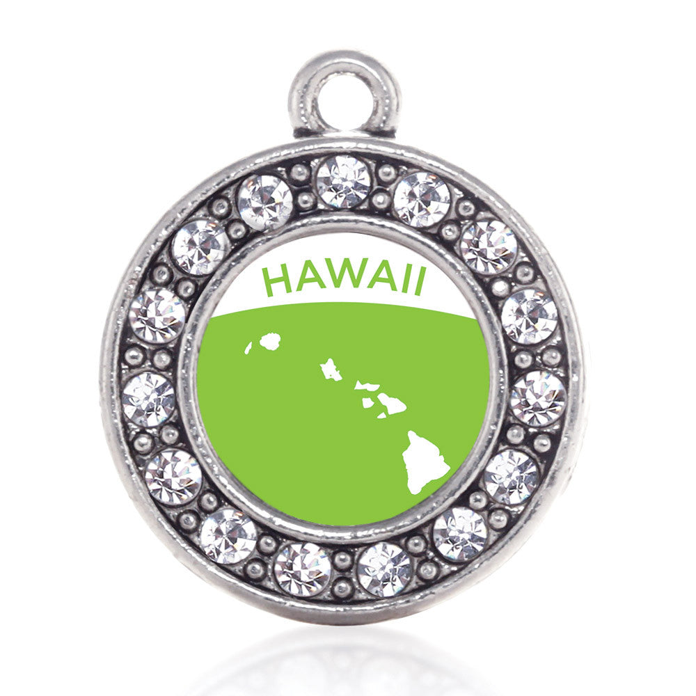 Hawaii Outline Circle Charm