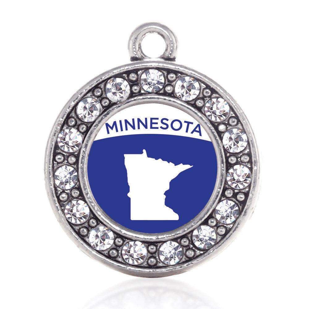 Minnesota Outline Circle Charm