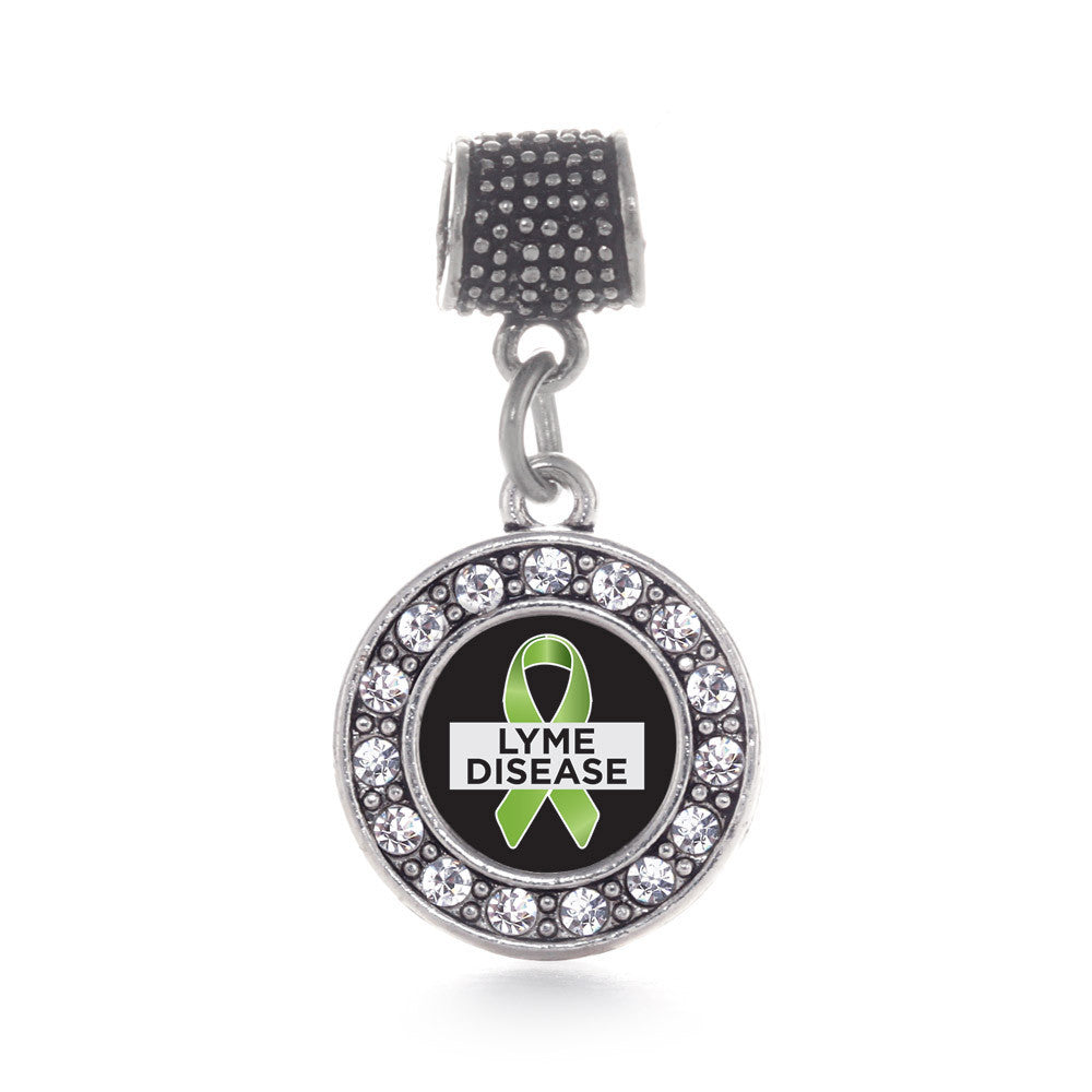 Lyme Disease Support and Awareness Circle Charm