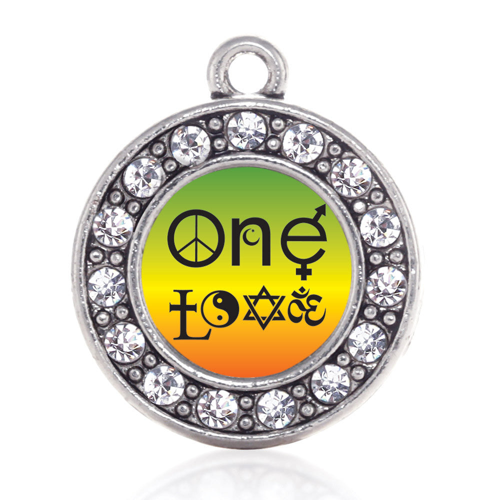 One Love Coexist Circle Charm