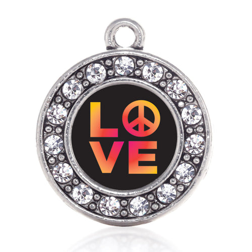 Peace And Love Circle Charm