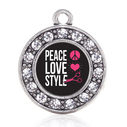 Peace, Love, And Style Circle Charm