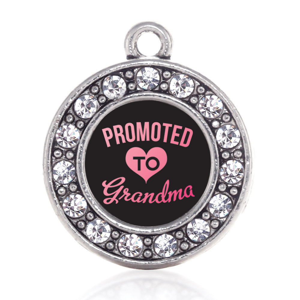 Promoted To Grandma Circle Charm