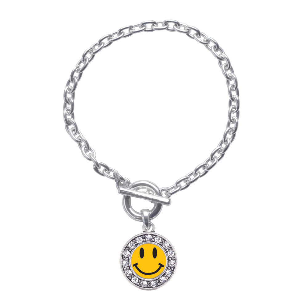 Smiley Face Circle Charm