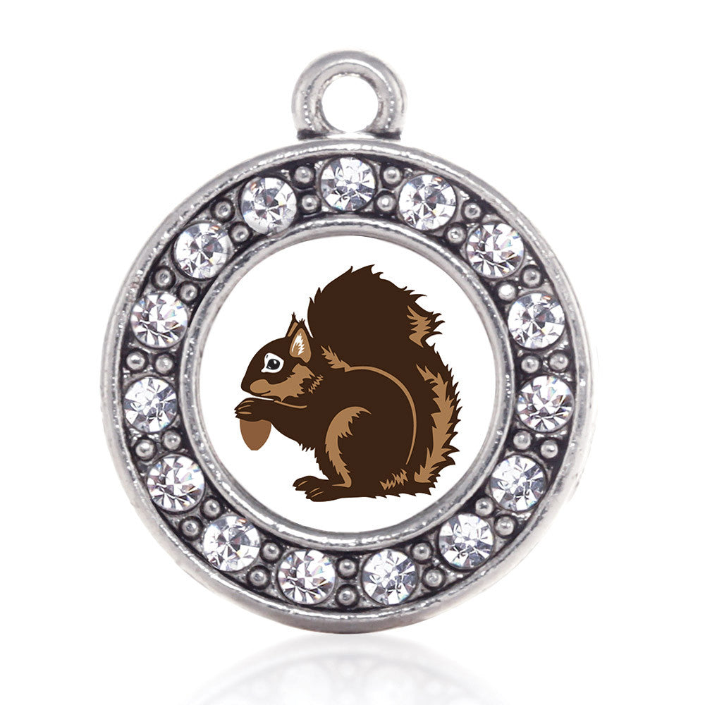 Squirrel Circle Charm