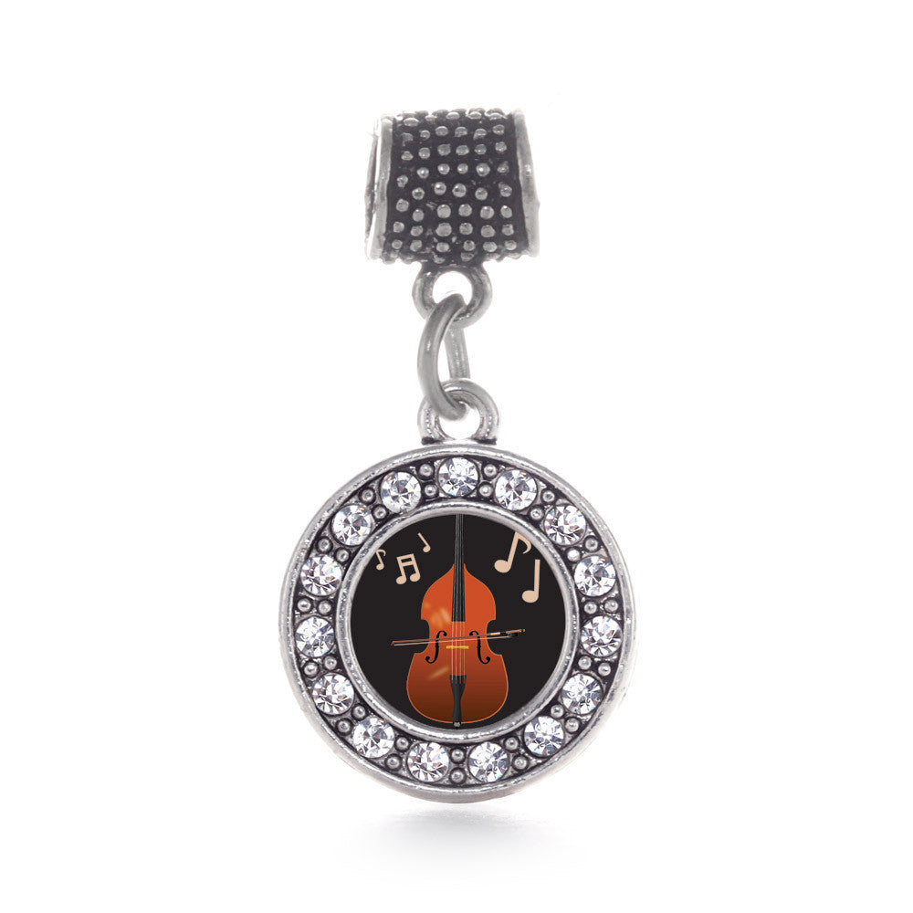 Stand Up Bass Circle Charm