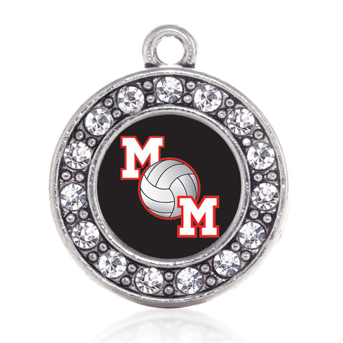 Volleyball Mom Circle Charm