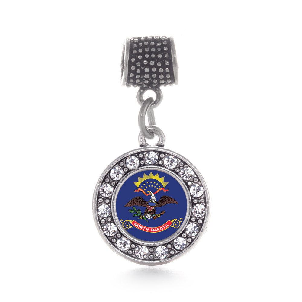 North Dakota Flag Circle Charm