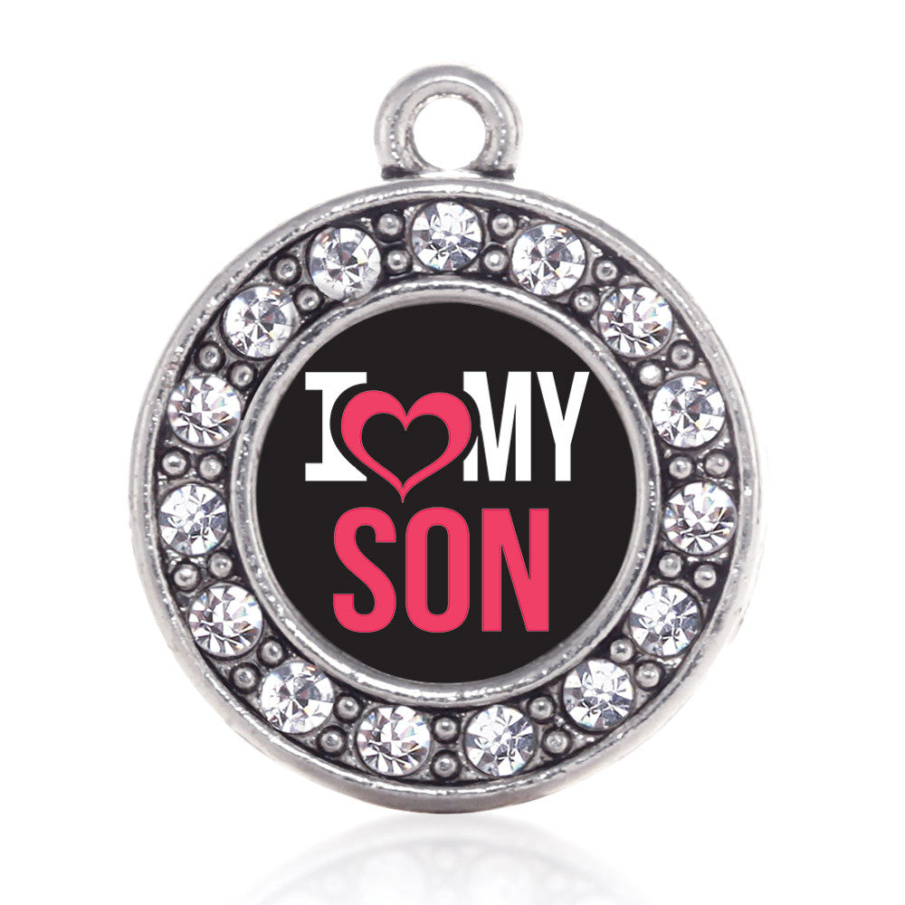 I Love My Son Circle Charm