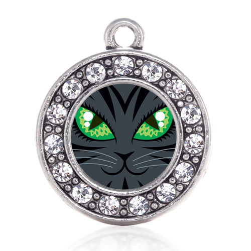 Mischevious Cat Circle Charm