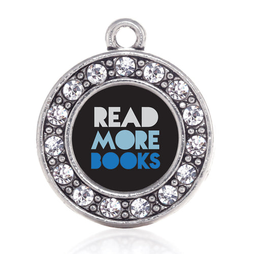 Read More Book Circle Charm