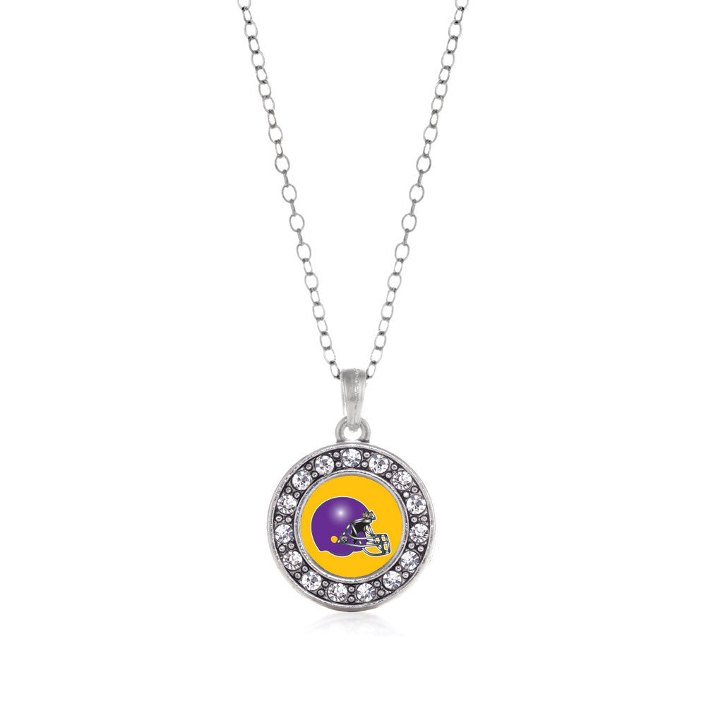 Yellow and Purple Team Helmet Circle Charm