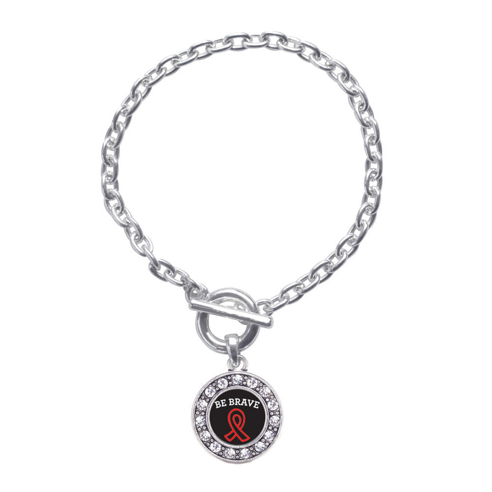 Be Brave Heart Disease Awareness Circle Charm