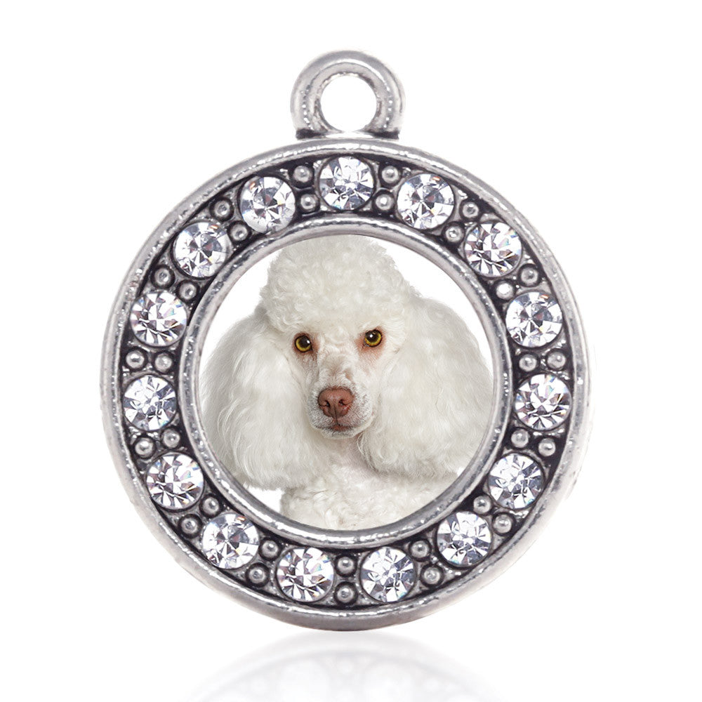 I Love My Poodle Circle Charm