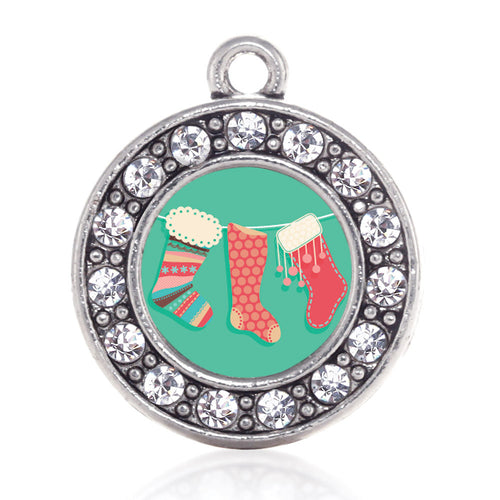 Holiday Stockings Circle Charm