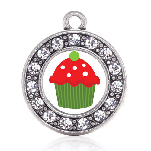 Holiday Cupcake Circle Charm