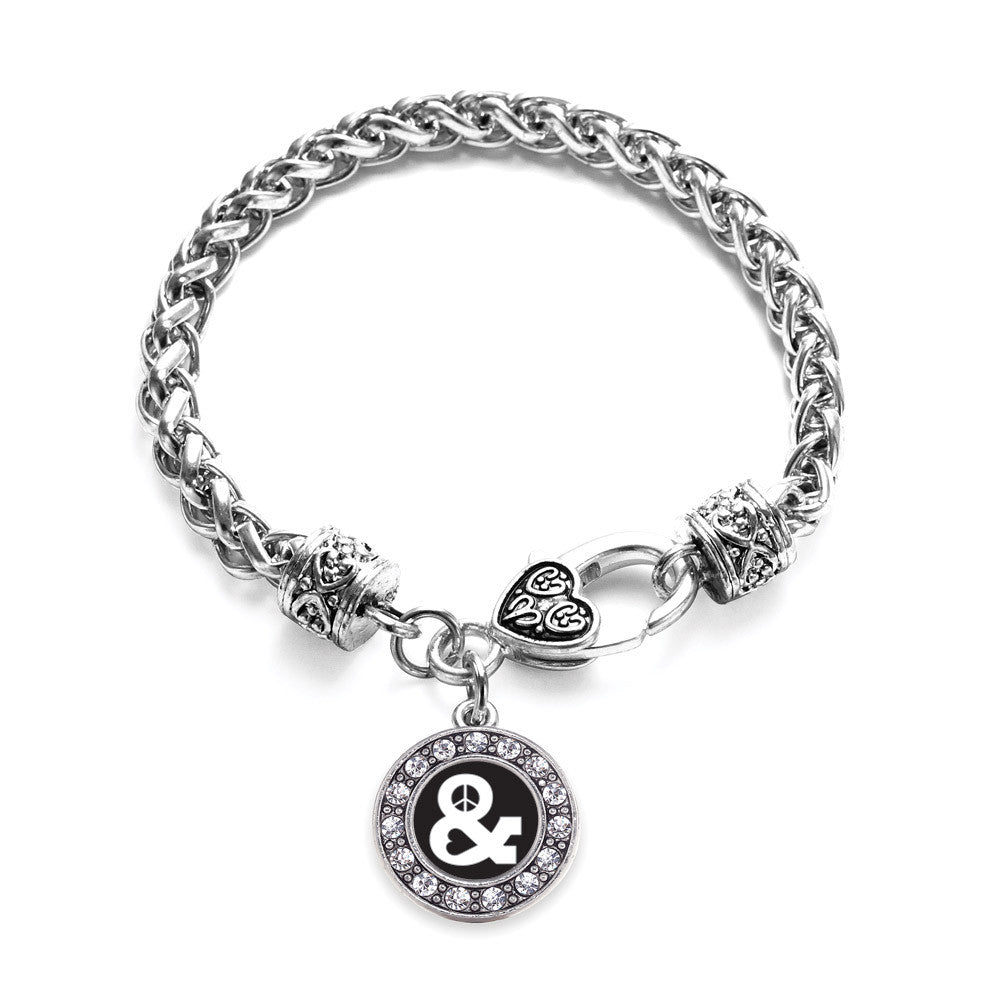 Simply Peace And Love Circle Charm