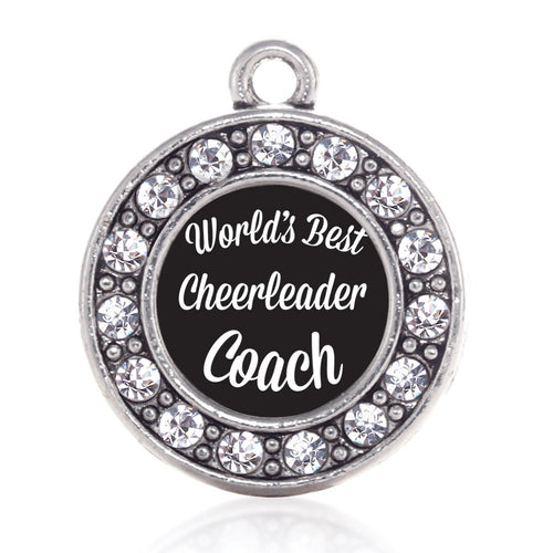 World's Best Cheerleader Coach Circle Charm