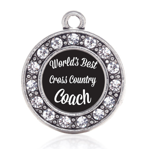 World's Best Cross Country Coach Circle Charm