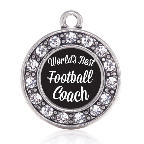 World's Best Football Coach Circle Charm