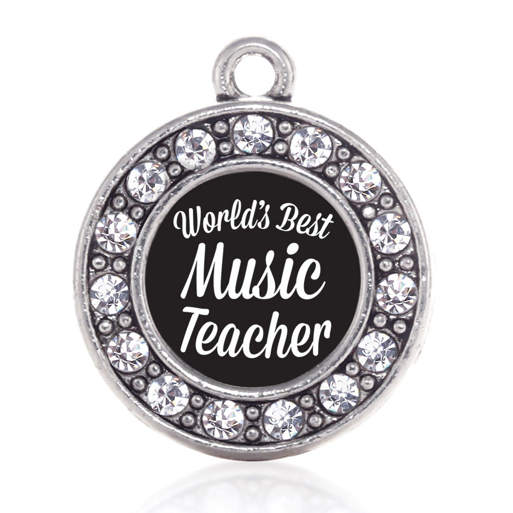 World's Best Music Teacher Circle Charm