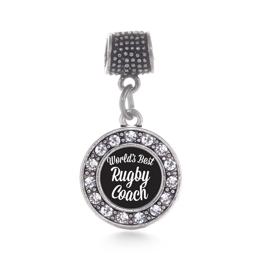 World's Best Rugby Coach Circle Charm