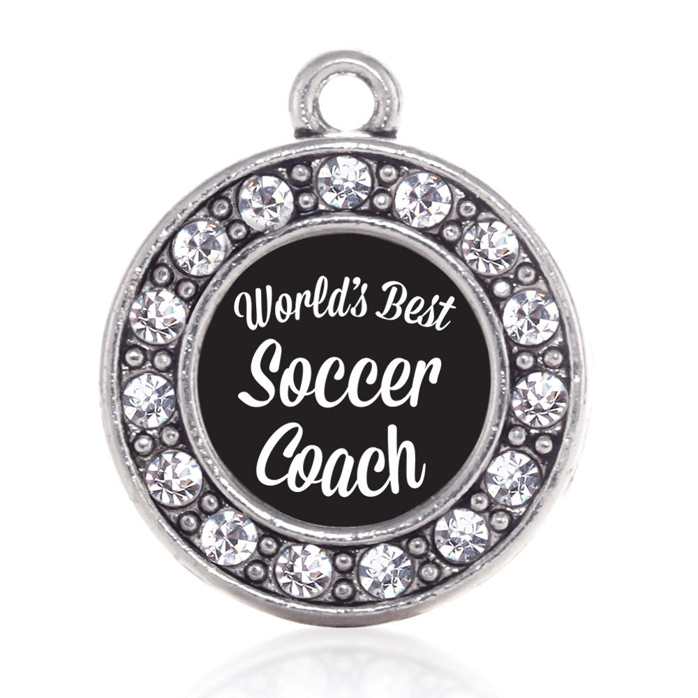 World's Best Soccer Coach Circle Charm