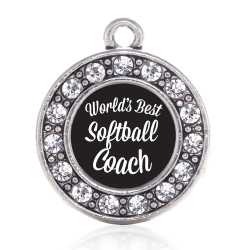 World's Best Softball Coach Circle Charm