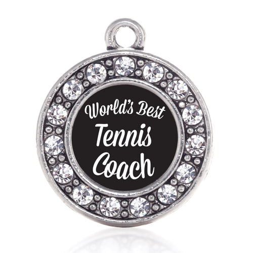 World's Best Tennis Coach Circle Charm