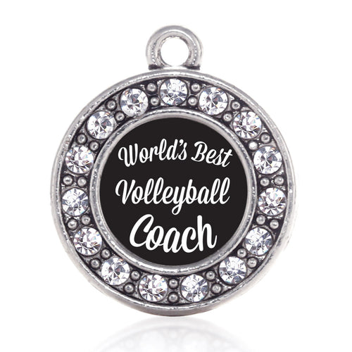 World's Best Volleyball Coach Circle Charm