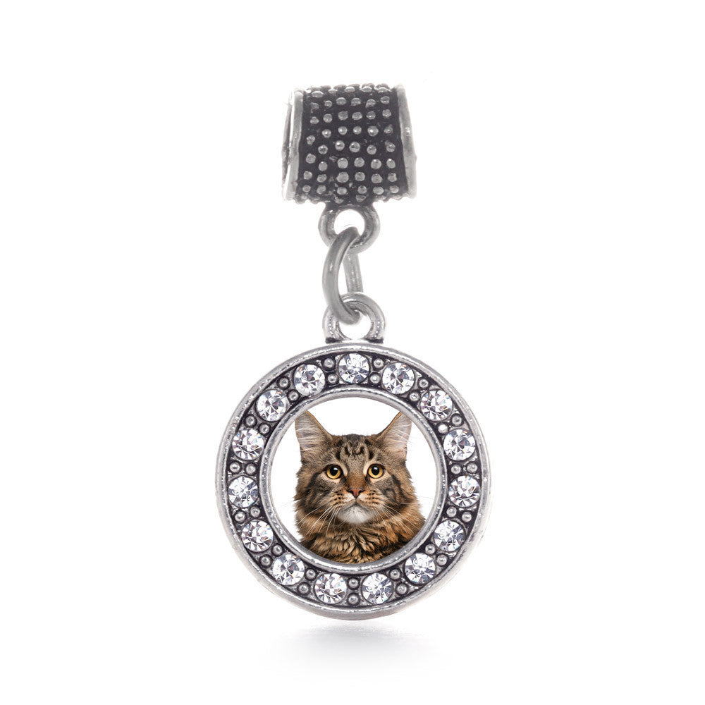 Maine Coon Cat Circle Charm