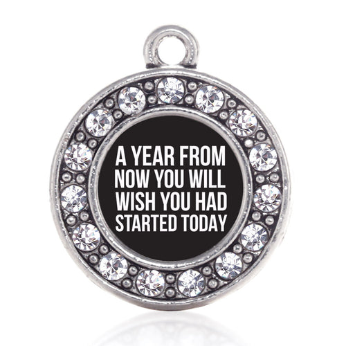 Start Today Inspirational Circle Charm