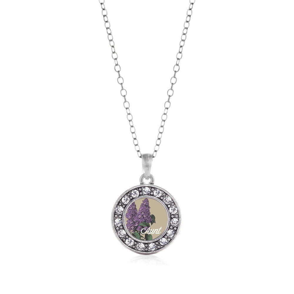Aunt Lilac Flower Circle Charm