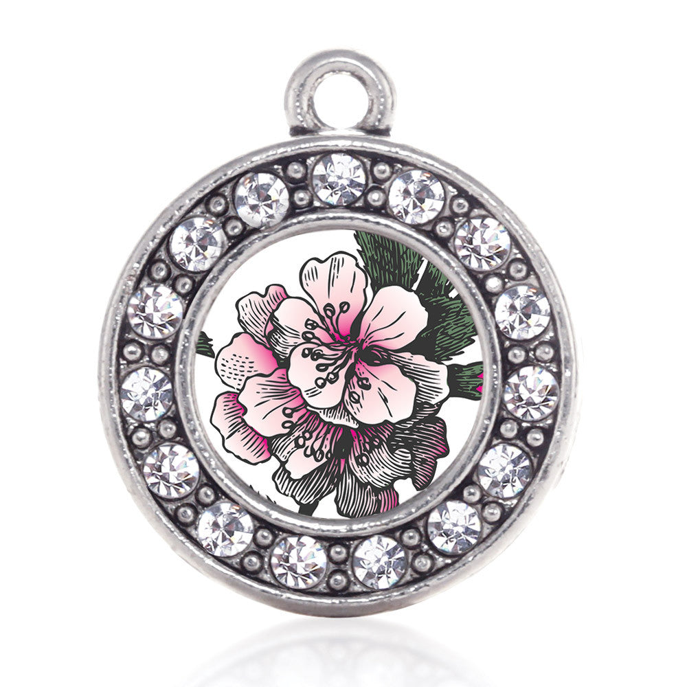 Apple Blossom Circle Charm