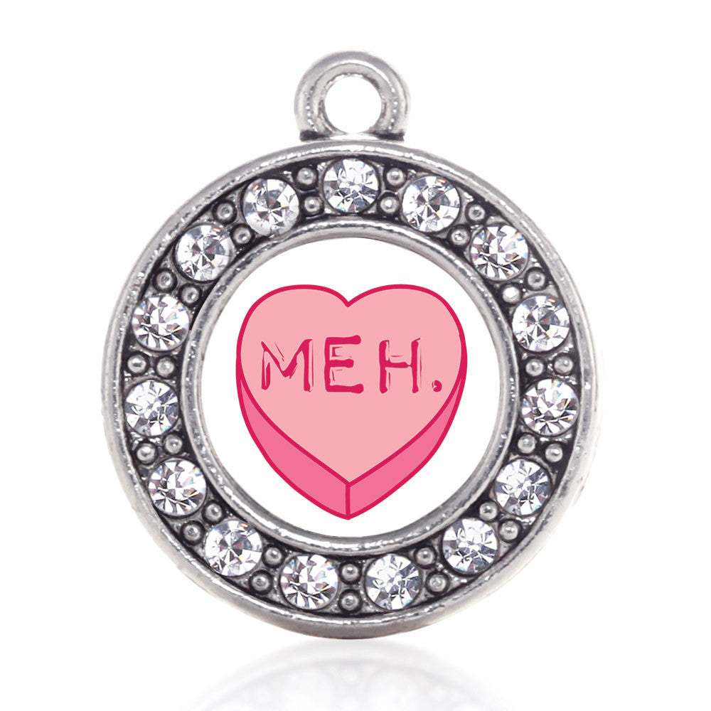Meh Candy Heart Circle Charm