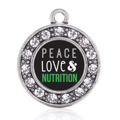 Peace, Love, and Nutrition Circle Charm