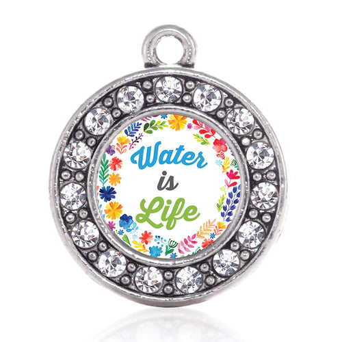 Water Is Life Circle Charm