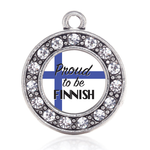 Proud to be Finnish Circle Charm