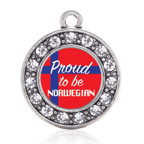 Proud to be Norwegian Circle Charm
