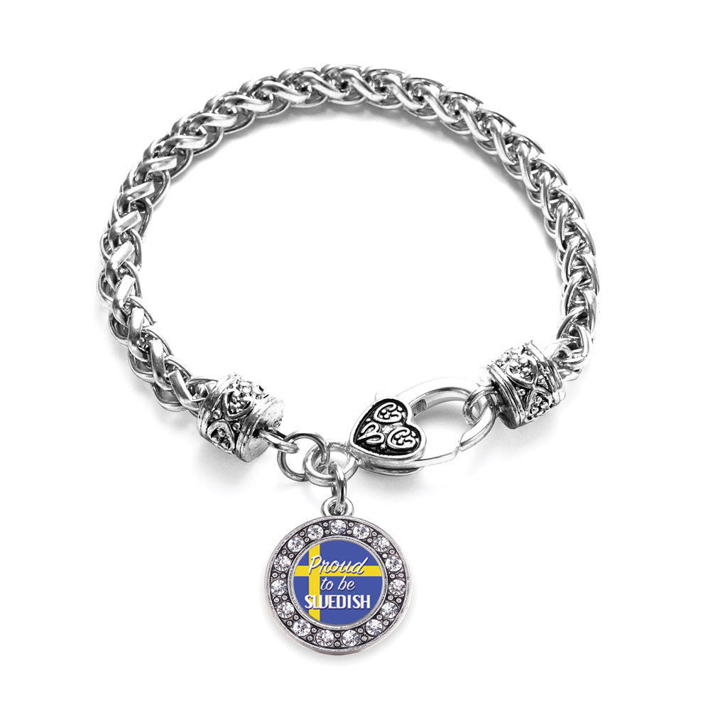 Proud to be Swedish Circle Charm