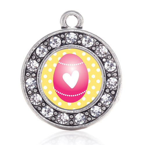 Pink Easter Egg  Circle Charm