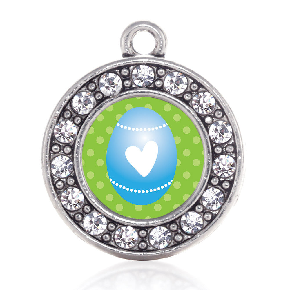 Blue Easter Egg Circle Charm
