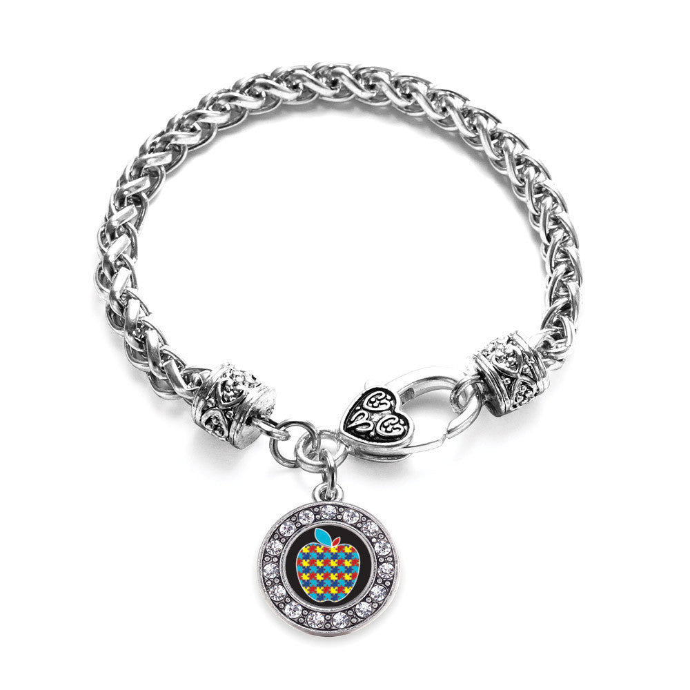 Autism Apple Circle Charm