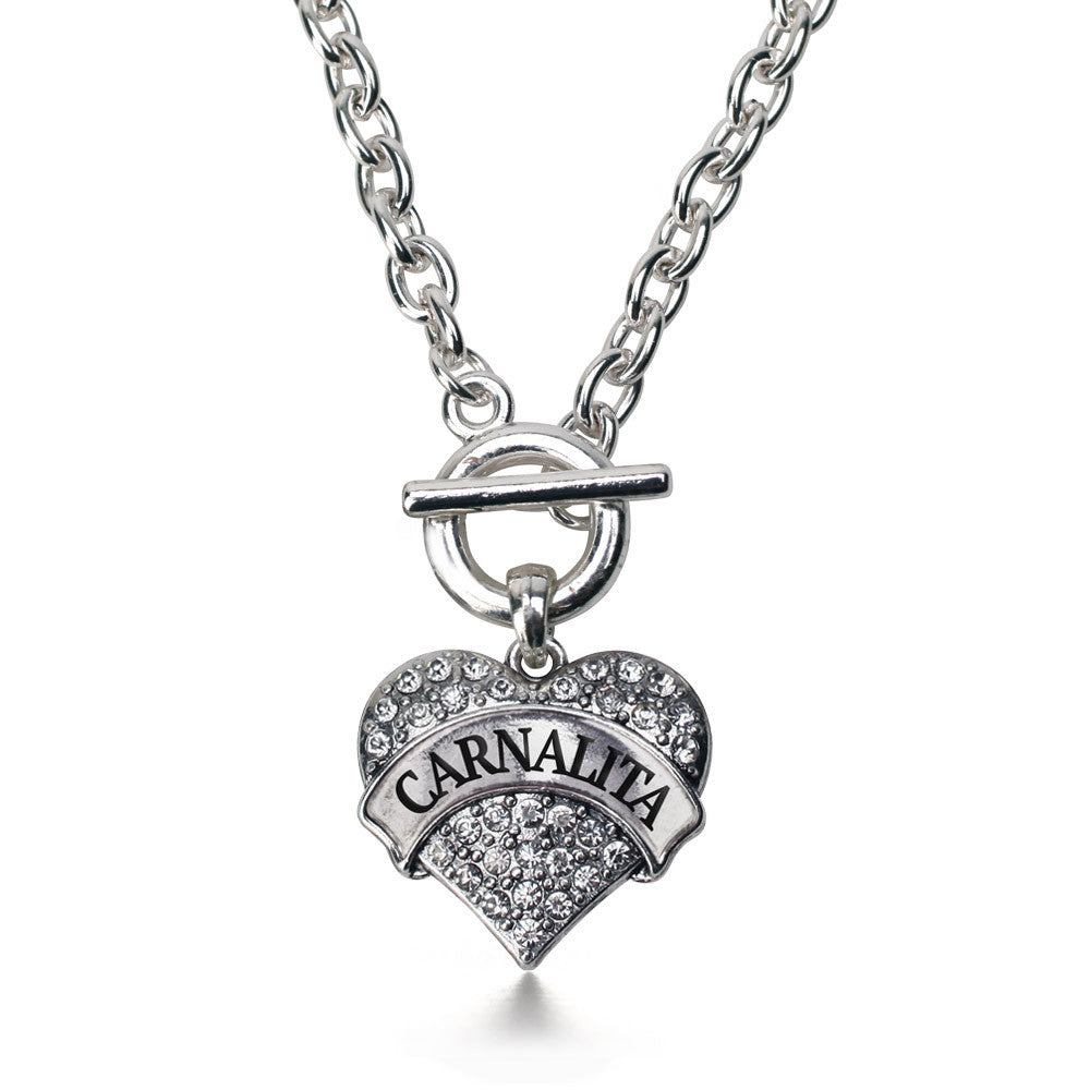 Carnalita - Little Sister Pave Heart Charm