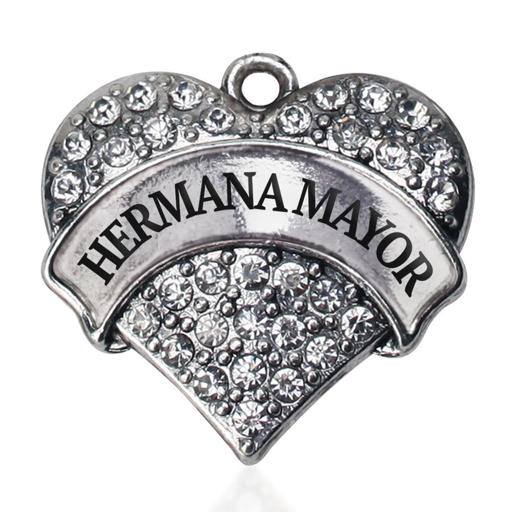 Hermana Mayor - Big Sister Pave Heart Charm