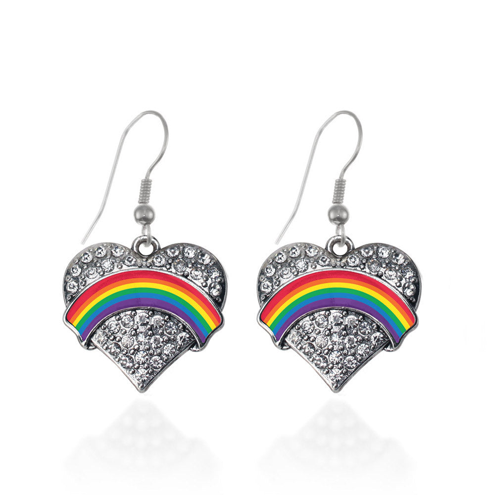 LGBT Pride Pave Heart Charm