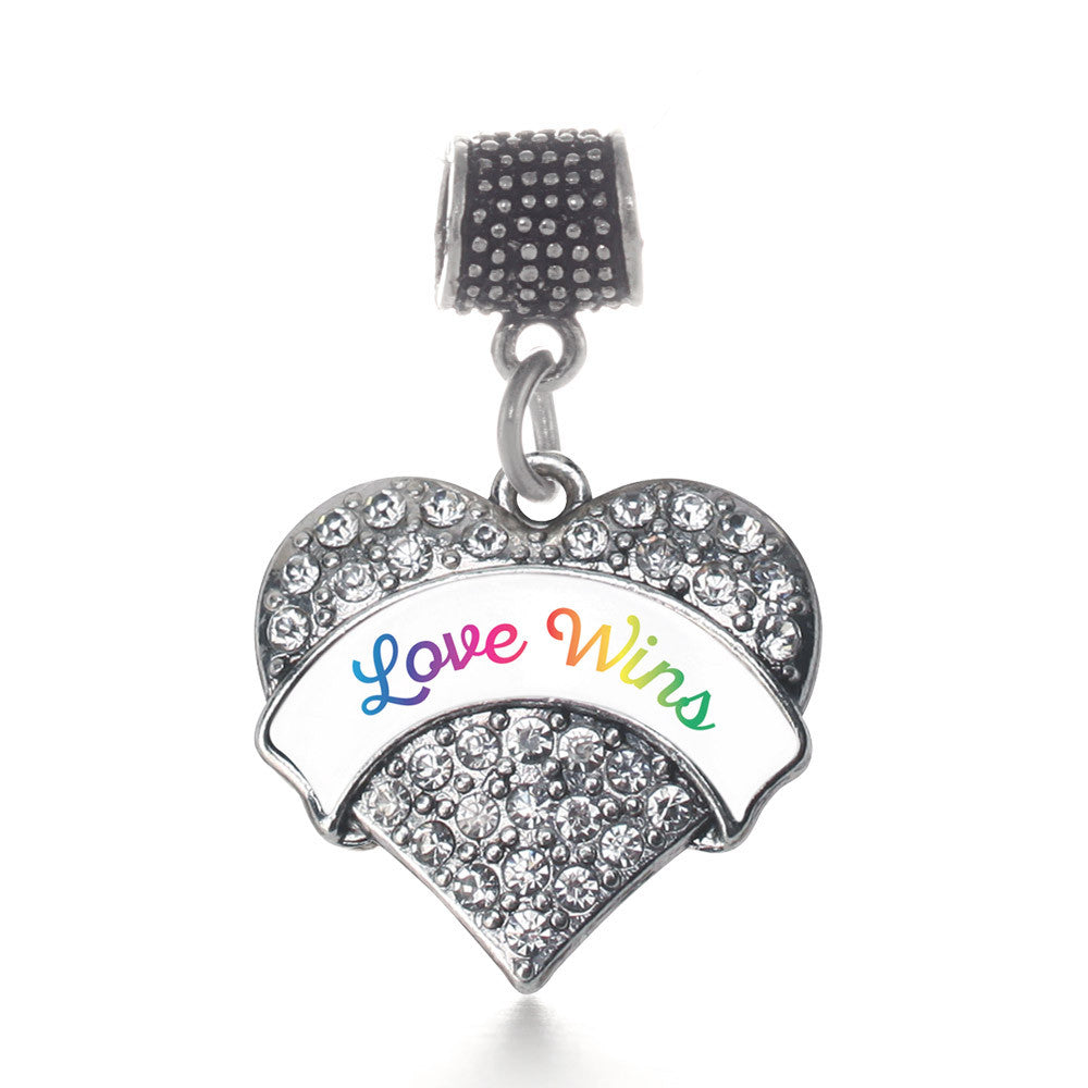 Love Wins Pave Heart Charm