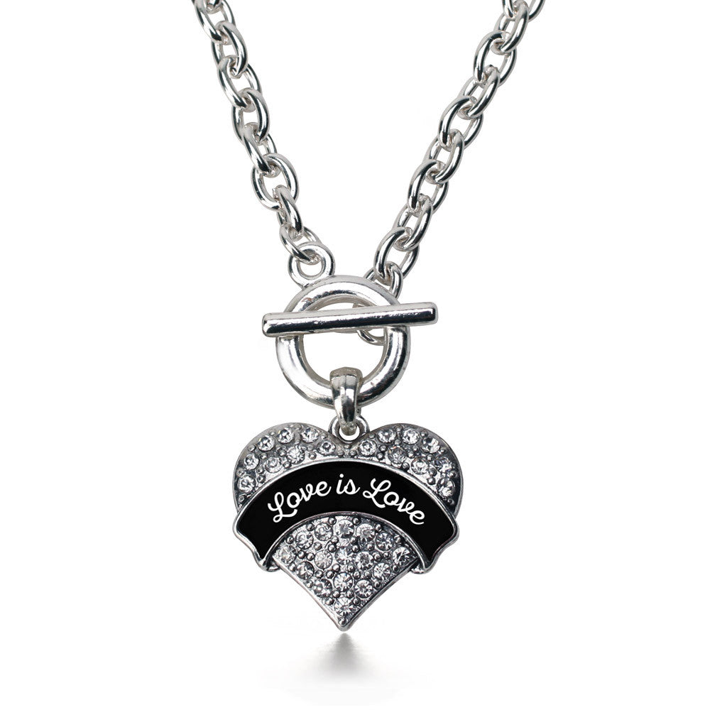 Love is Love Pave Heart Charm